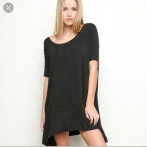 Brandy Melville Charcoal T-Shirt Dress